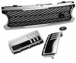 HAWKE Grille Range Rover Vogue 2006 Supercharged Look Chrome & Black Bundle