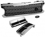 HAWKE Grille & Vent Bundle L322 Vogue 06-09 Chrome & Black Supercharged
