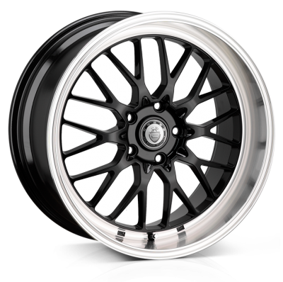 Cades Tyrus wheels 18 x 8J 5-112 | Black lip Polish Set of four