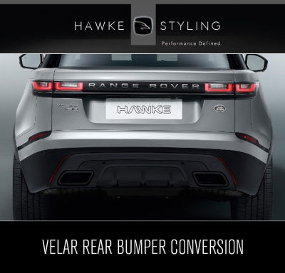 VELAR Gloss Black Conversion for Rear Bumper & Exhaust