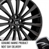 HAWKE Chayton Alloy Wheels 20 inch 5x108 (ET45) | Black lip Polish x 4 | fits Range Rover Evoque, Velar and Jag F-Pace models