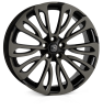 HAWKE Halcyon Alloy Wheels 22 inch 5x120 (ET40) | Black Shadow x 4 | fits Range Rover Sport, Vogue and Discovery models