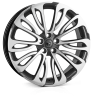 HAWKE Halcyon Alloy Wheels 22 inch 5x120 (ET40) | Gunmetal  Polish x 4 | fits Range Rover Sport, Vogue and Discovery models