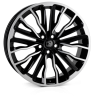 HAWKE Harrier Alloy Wheels 22 inch 5x108 (ET42) | Black Polish x 4 | fits Range Rover Evoque, Velar and Jag F-Pace models