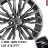 HAWKE Harrier Alloy Wheels 22 inch 5x120 (ET40) | Gunmetal x 4 | fits Range Rover Sport, Vogue and Discovery models