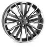 HAWKE Harrier Alloy Wheels 22 inch 5x108 (ET42) | Gunmetal Polish x 4 | fits Range Rover Evoque, Velar and Jag F-Pace models
