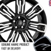 HAWKE Hermes Alloy Wheels 22 inch 5x108 (ET42) | Black Polish x 4 | fits Range Rover Evoque, Velar and Jag F-Pace models