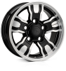 HAWKE Osprey WT Alloy Wheels 18 inch 5x165 (ET25) | Black Polish x 4 | fits Land Rover Defender models