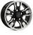 18x9.0 5x165 ET25 HAWKE Osprey Widetrack Black Polish