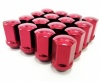 (Set of 10) 12X1.50 19Hex 35mm TPi Xr Alloy Racing Nut Red