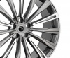 HAWKE Chayton Alloy Wheels 22 inch 5x108 (ET42) | Gunmetal Highlight x 4 | fits Range Rover Evoque, Velar and Jag F-Pace models