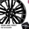HAWKE Harrier Alloy Wheels 22 inch 5x120 (ET40) | Black Shadow x 4 | fits Range Rover Sport, Vogue and Discovery models