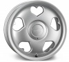Tansy Love 'Heart' Alloy Wheels 16 inch 5x100/112 (ET35) | Silver x 4 | fits VW Beetle models
