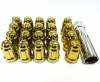 12x1.50 20D 33L TPi SD (Tuner) Nutz Steel Gold 20 Pack with Locks