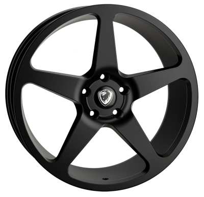 Cades Vulcan 20 inch wheel finished in Matt Black; drilled to 5x120 stud pattern