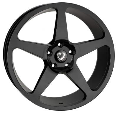 Cades Vulcan 20 inch wheel finished in Gloss Black; drilled to 5x120 stud pattern