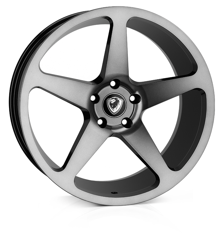 Cades Vulcan 20 inch wheel finished in Shadow Black; drilled to 5x120 stud pattern