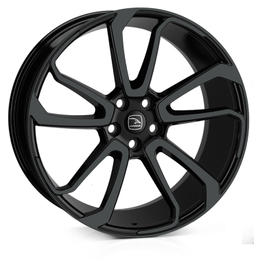 HAWKE Falkon Alloy Wheels 22 inch 5x120 (ET45) | Black x 4 | fits Range Rover Sport, Vogue and Discovery models