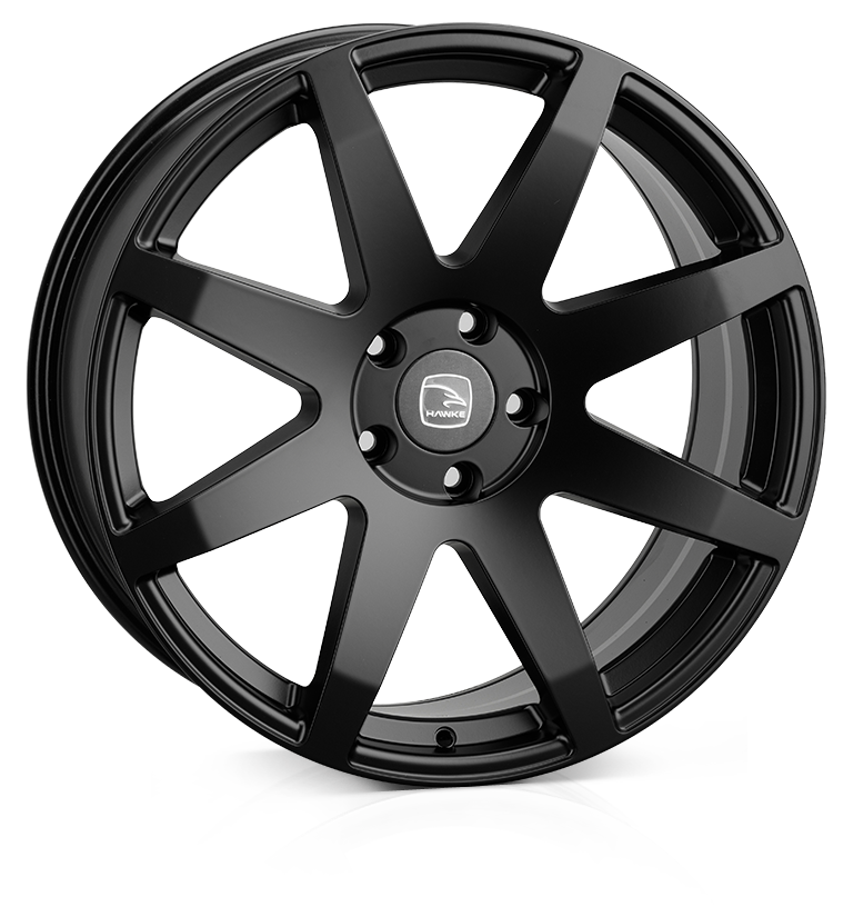 HAWKE Knox XL Alloy Wheels 22 inch 6x139 (ET30) | Matt Black x 4 | fits Ford Ranger, Mitsubishi L200 and Toyota Hilux models