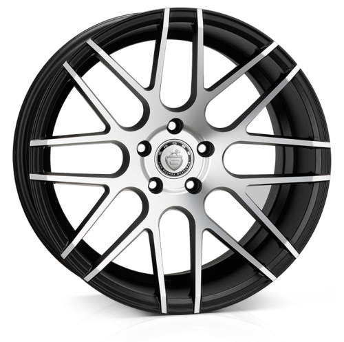Cades Artemis Alloy Wheels 19 inch 5x112 (ET40) | Black Polish x 4 | fits VW, Audi and Mercedes models