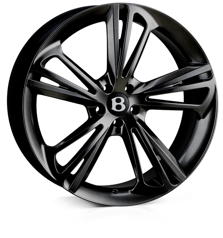 HAWKE Aquila Alloy Wheels 22 inch 5x112 (ET30) | Black x 4 | fits Bentley GT and GTC models