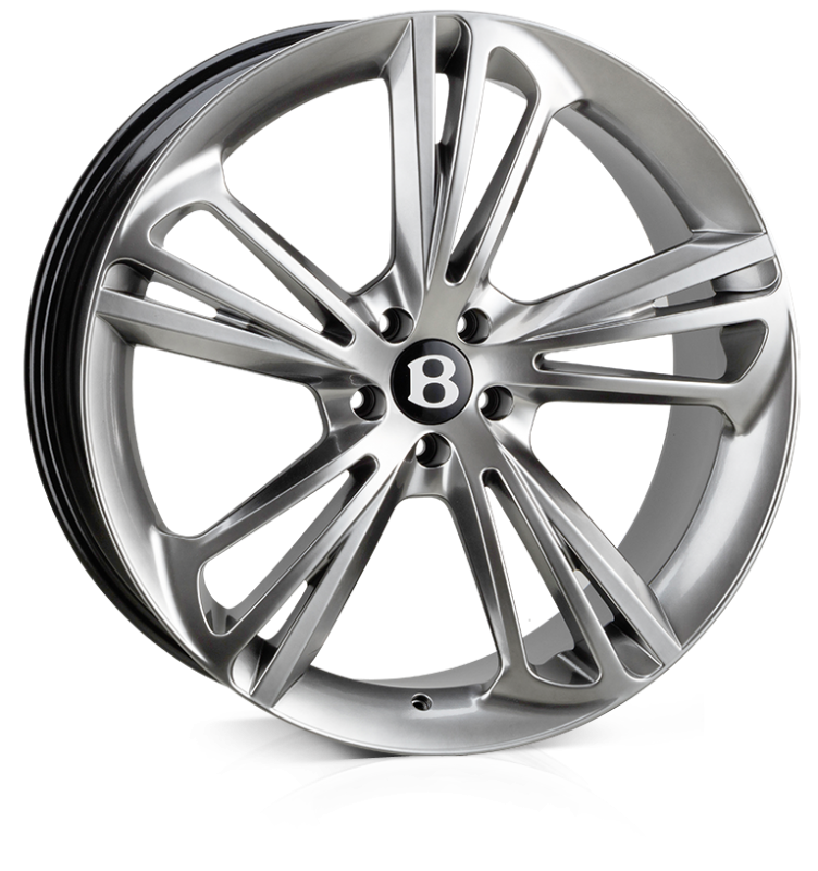 HAWKE Aquila Alloy Wheels 22 inch 5x112 (ET30) | Silver x 4 | fits Bentley GT and GTC models