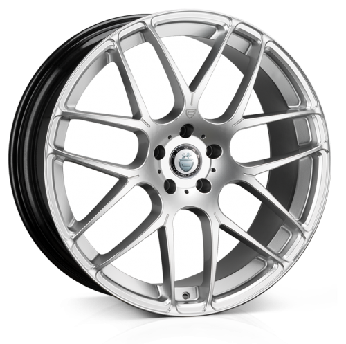 Cades Bern 20 inch wheel finished in Silver Accent; drilled to 5x120 stud pattern