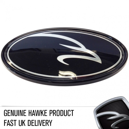 HAWKE Boot Badge Black Surround & Badge Bundle Range Rover models