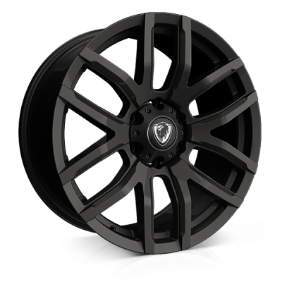Cades RS Commercial wheels 18 x 8j 6x130 | Jet Black Set of four | fits Mercedes Sprinter van