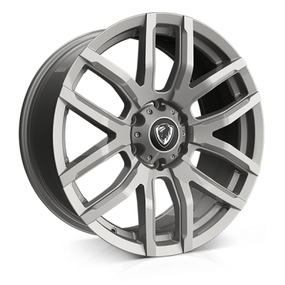 Cades RS Commercial wheels 18 x 8.0j 6x130 | Sparkle Silver Set of four | fits Mercedes Sprinter van