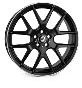 Cades Comana Alloy Wheels 22 inch 5x112 (ET47) | Matt Black lip Polish x 4 | fits Mercedes and Audi models