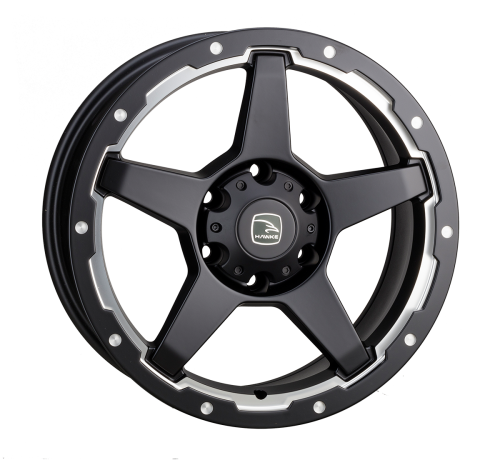 HAWKE Eiger Alloy Wheels 18 inch 6x139 (ET20) | Matt Black/Silver x 4 | fits Mini, VW, Citroen, E30 3 Series BMW models