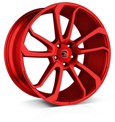 HAWKE Falkon Alloy Wheels 22 inch 5x120 (ET42) | Cherry Red x 4 | fits Range Rover Sport, Vogue and Discovery models