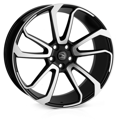 HAWKE Falkon Alloy Wheels 22 inch 5x120 (ET42) | Black Polish x 4 | fits Range Rover Sport, Vogue and Discovery models