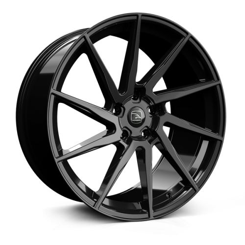 23x10 5x108 ET39 Hawke Arion Jet Black