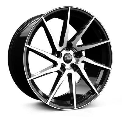 HAWKE Arion Alloy Wheels 22 inch 5x120 (ET42) | Black Polished x 4 | fits Range Rover Sport, Vogue and Discovery models