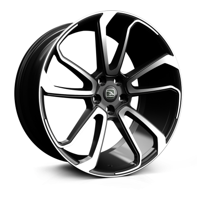 HAWKE Falkon Alloy Wheels 20 inch 5x120 (ET38) |Black Polished x 4  | fits VW Transporter van T6 & T5