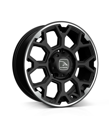 HAWKE Sar Alloy Wheels 16 inch 5x139 (ET-10) | Matt Black Polished x 4 | fits Suzuki Jimny