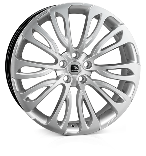 23x9.5 5x120 ET38 Hawke Halcyon High Power Silver