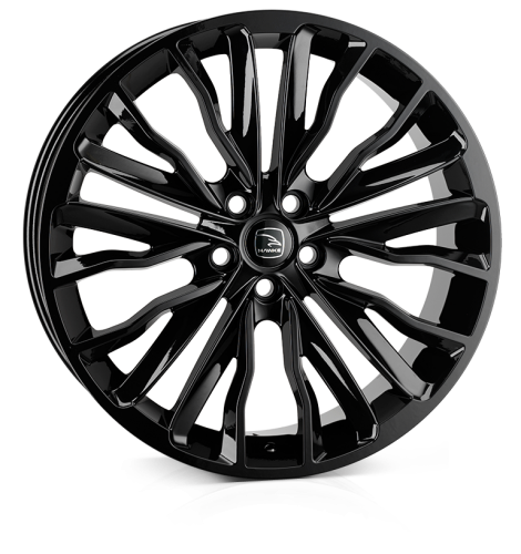 HAWKE Harrier Alloy Wheels 22 inch 5x108 (ET42) | Black x 4 | fits Range Rover Evoque, Velar and Jag F-Pace models