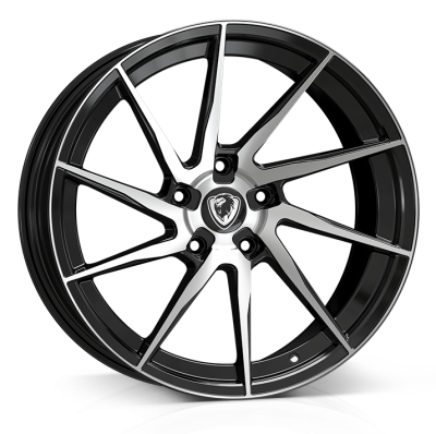 Cades Kratos Alloy Wheels 18 inch 5x112 (ET45) | Gloss Black x 4 | fits VW, Audi and Mercedes models