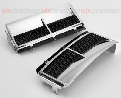 Supercharged Style Side Vents Chrome with Black for Range Rover Vogue 2002-2013 - CLEARANCE WHILE STOCKS LAST!