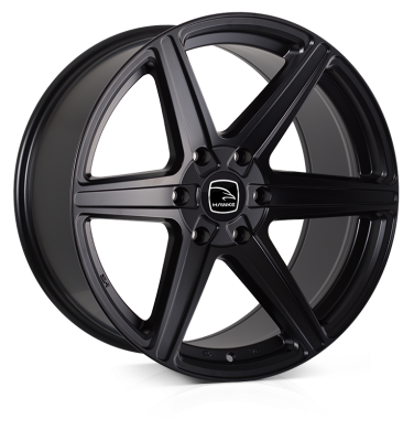 HAWKE Ridge Alloy Wheels 20 inch 6x139 (ET30) | Matt Black x 4 | fits Ford Ranger, Mitsubishi L200 and Toyota Hilux models