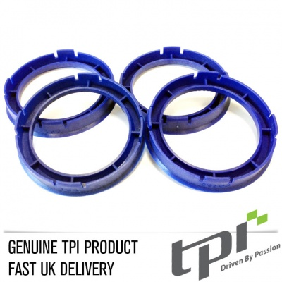 Set of Four Spigot Rings 60.1 - 56.6 Tpi Reflex Blue