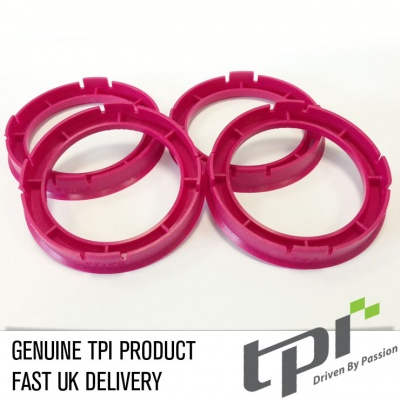 Set of Four Spigot Rings 60.1 - 56.1 Tpi Red