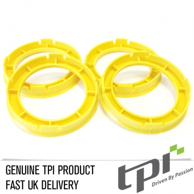 Set of Four Spigot Rings 60.1 - 54.1 Tpi Yellow