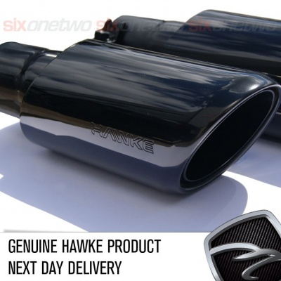HAWKE 2010 Straight fit Exhaust Tips with Black shells for Range Rover Sport 2009-2013