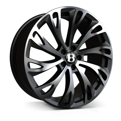 22x11.0 5x130 ET20 SSR IV Black Polished (Bentayga)
