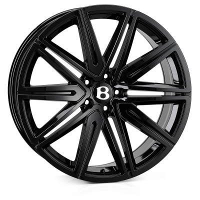 SSR SSR II Alloy Wheels 21 inch 5x112 (ET35) | Black x 4 | fits Bentley GT and GTC models