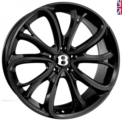 SSR SSR III Alloy Wheels 21 inch 5x112 (ET30) | Black x 4 | fits Bentley GT and GTC models
